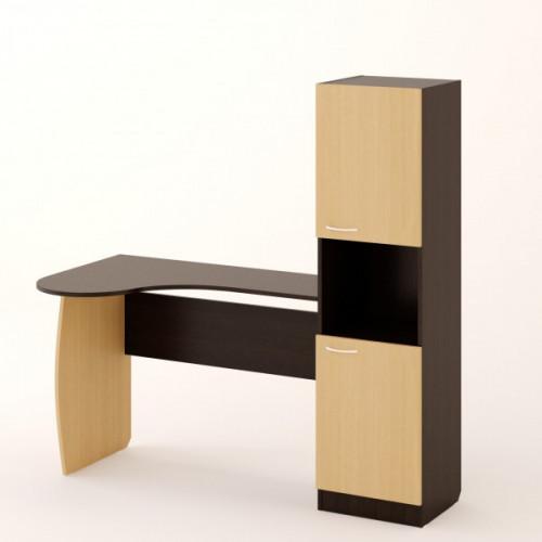 Стол письменный №5, венге/беленый дуб