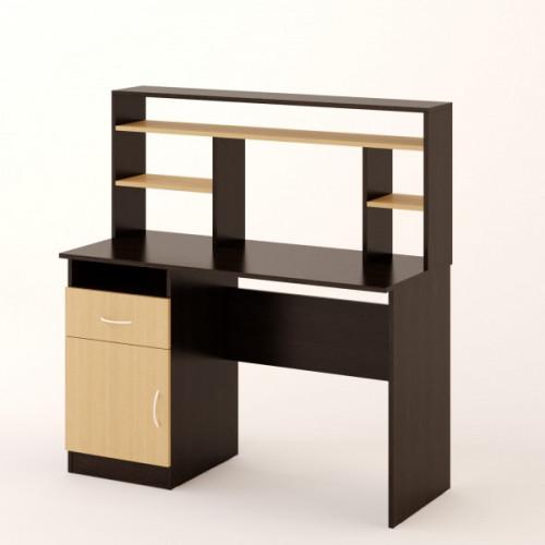 Стол компьютерный №1, Венге/беленый дуб