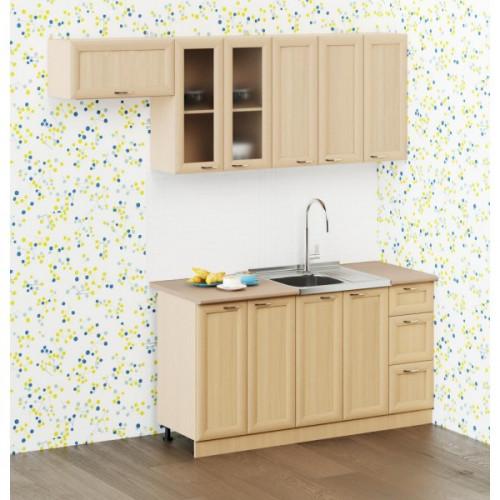 """Кухня """"Рамочная"""", Беленый дуб 1.5 м"""