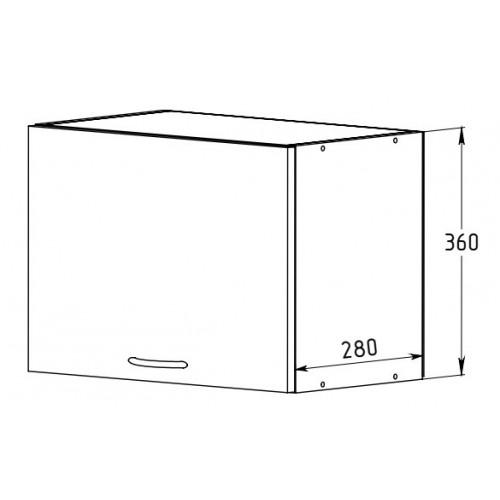 Шкаф 500 с дверью (открывание вверх)