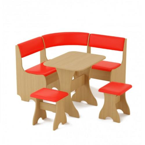 Кухонный уголок «Мини» (кож.зам. цветной), Красный