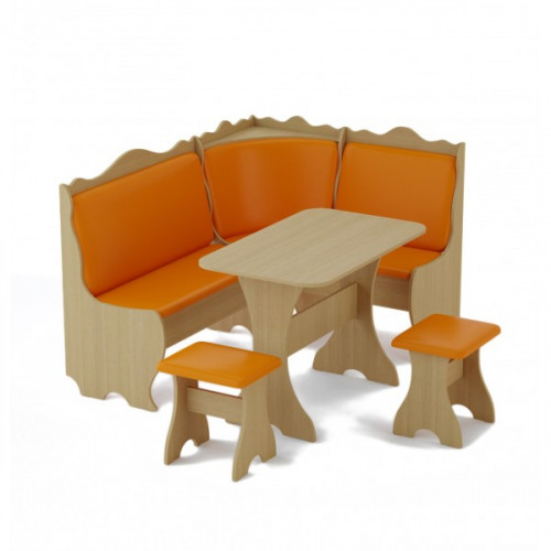 Кухонный уголок «Стандарт» (кож.зам, цветной), оранжевый