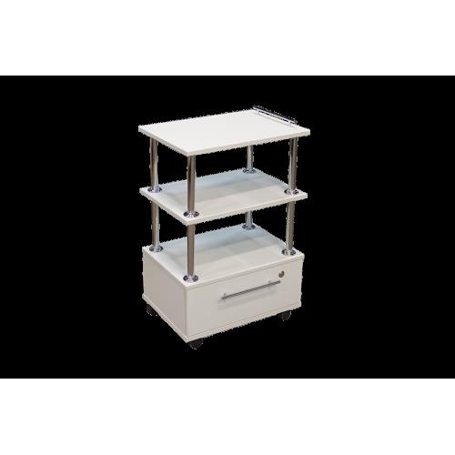 Этажерка 1 ящик Белый