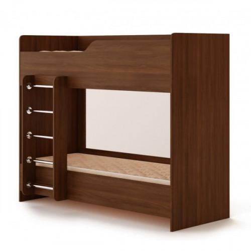 Кровать двухъярусная №2 (без матраца), Орех
