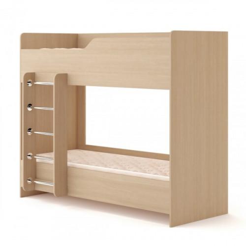Кровать двухъярусная №2 (без матраца), беленый дуб