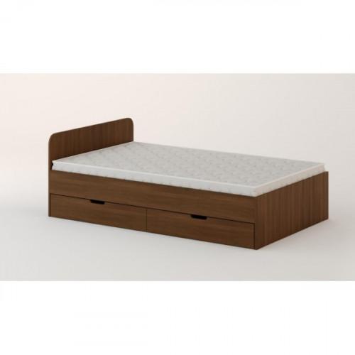Кровать с ящиками 900 (без матраца), орех