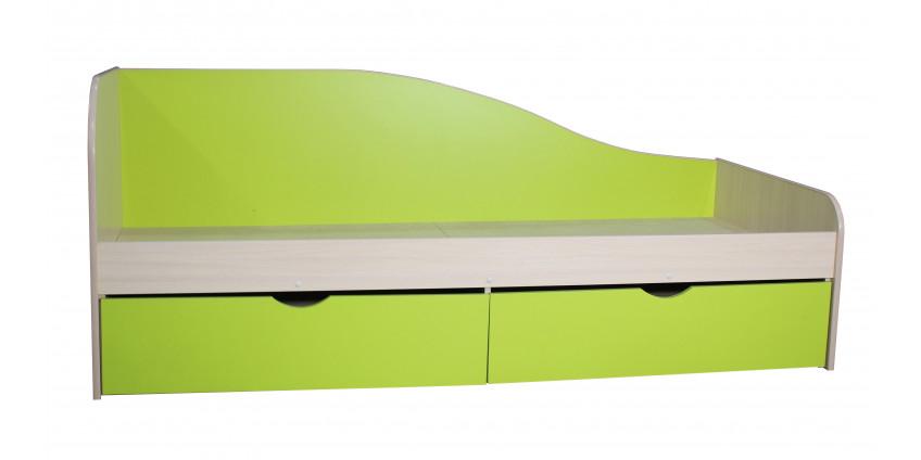Новинка! Кровать Софа-Волна (без матраца) Беленый дуб/Лайм цена 6450