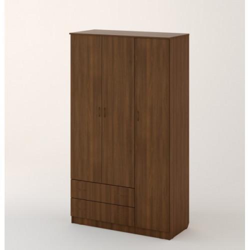 Шкаф распашной 3хстворчатый с 2 ящиками, Орех