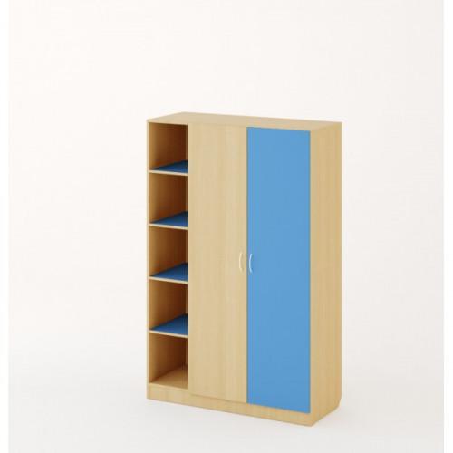 Шкаф детский №2, Дуб беленый/Синий