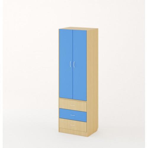 Шкаф детский, Дуб беленый/Синий